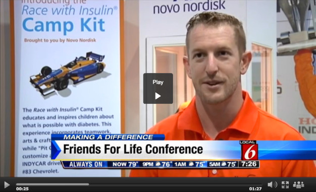 Athletes inspire kids with diabetes at Friends for Life Conference