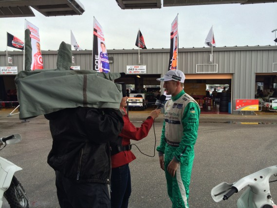 A quick interview for NBCSN after the shortened practice.
