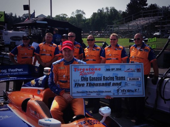Nice job No. 83 crew--winners of the Toronto race 1 Firestone pit stop challenge!