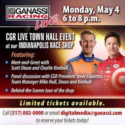 Kick off May with Charlie at the Ganassi race shop!