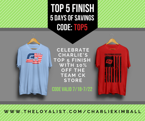 Shop now: 5-day celebration for a top-5 finish