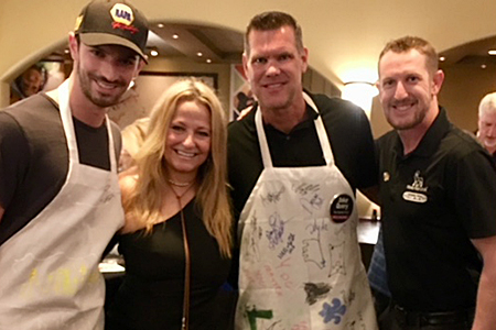 Drivers are showmen even when cooking for charity